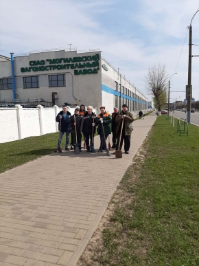 "On April 25, employees of the NWAO ""MVZ"" took part in the republican subbotnik"